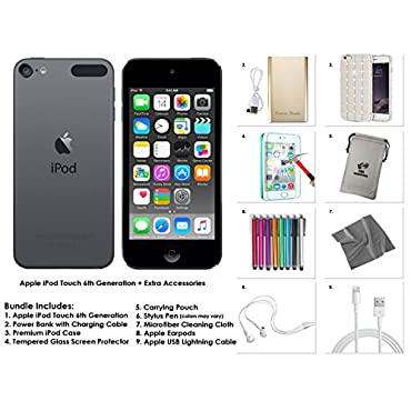 Apple iPod Touch 6th Generation and Accessories, 32GB Space Grey