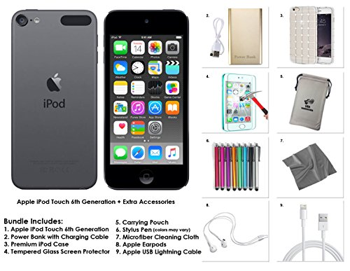 Apple iPod Touch 6th Generation and Accessories, 32GB - Space Grey