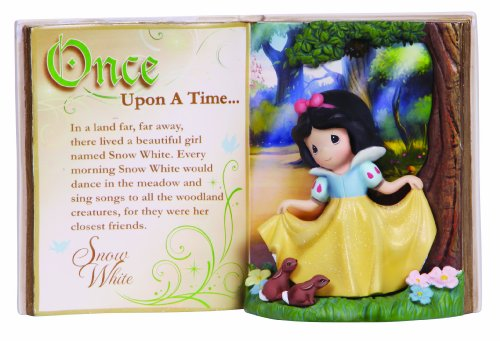 - Precious Moments Disney Showcase Collection, Storybook Snow White, Resin Figurine, 134406