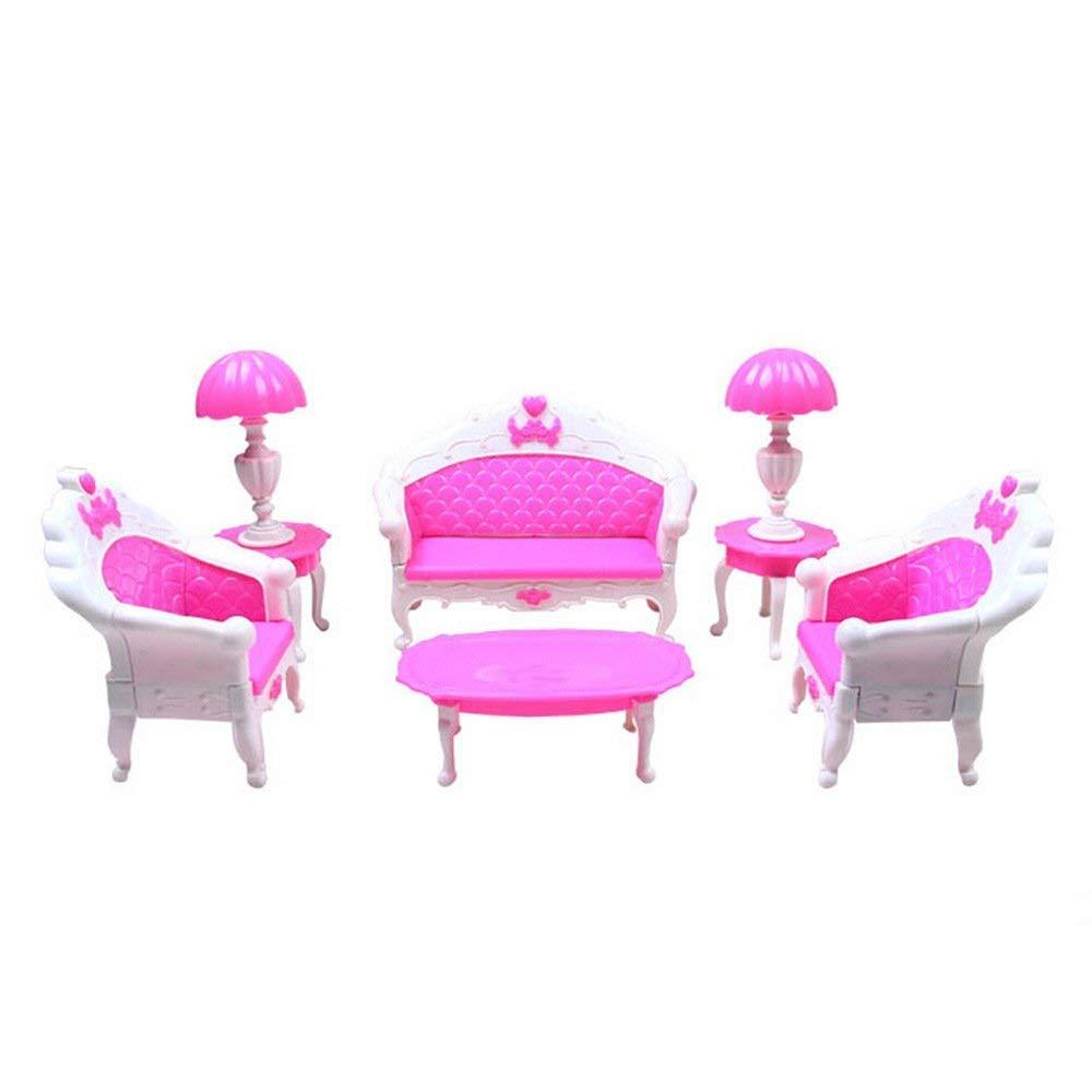 GIVBRO WC + Lavabo + Brosse à Dents Meuble de Salle de Bain pour Maison de poupées Barbie Figurines Accessoire de 1/6Échelle Miniature
