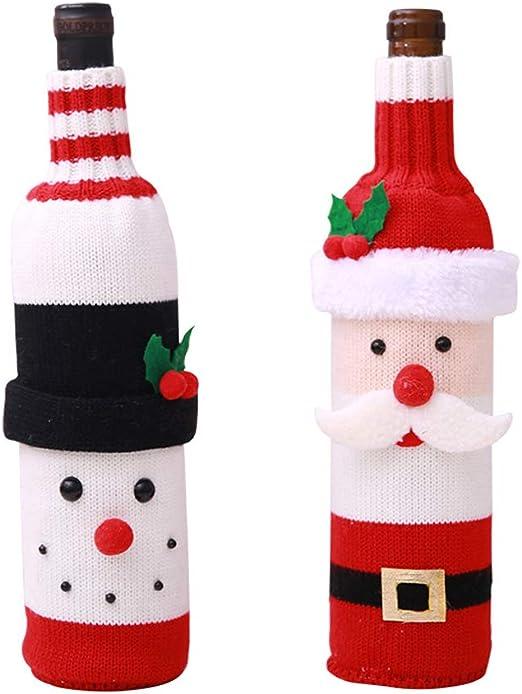 Sungpunet 2 Botella Paquete de Navidad Vino Tinto Covers Caso ...
