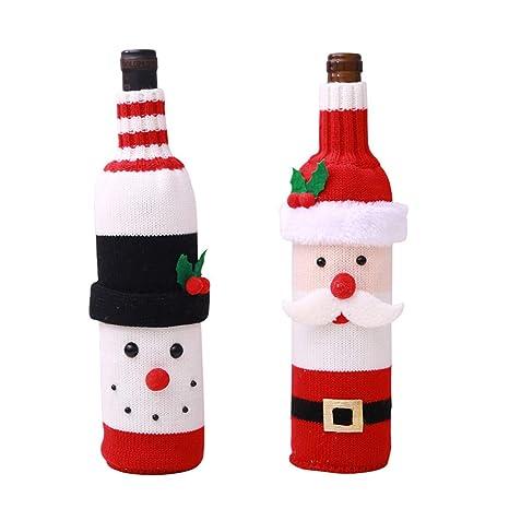 Songrong Botella 2 Paquete de Navidad Vino Tinto Covers Caso Lindo ...