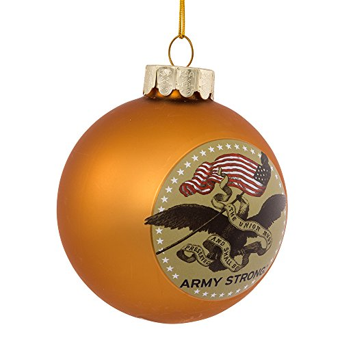 U.S. Army Kurt Adler 80-MM Gold Glass Ball Ornament