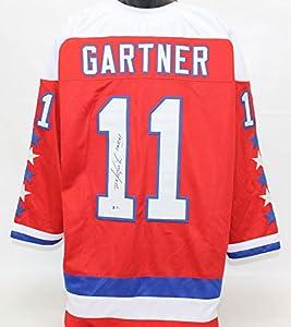 Mike Gartner Autographed Washington Capitals Jersey Beckett COA
