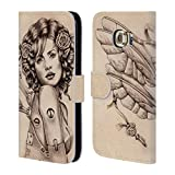 Official Brigid Ashwood Unlocked Steampunk Leather Book Wallet Case Cover For Samsung Galaxy S6 edge