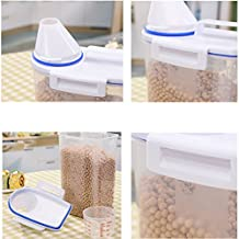 Namivad 2L Portable Plastic Pet Food Storage Box With Measuring Cup Nice For Food Grain Rice Container