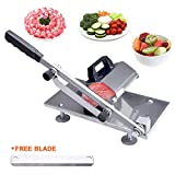 Seeutek Manual Frozen Meat Slicer Stainless Steel Meat Cutter Beef Mutton Roll Meat Cheese Food Slicer Vegetable Sheet Slicer Machine for Home Cooking Kit of Hot Pot Shabu