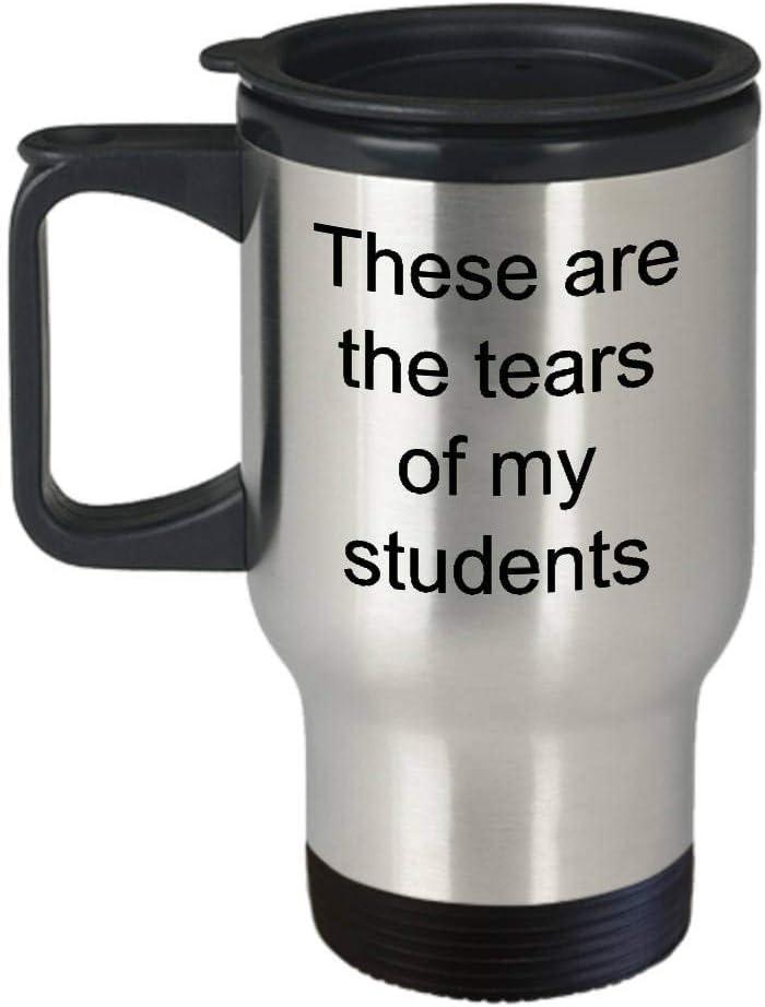 XGBDTJ Las Termo Tazas con Inscripción Son Las Lágrimas De Mis Estudiantes Vida de Moda De Acero Inoxidable para El Profesor Profesor Ca 400 Ml Plata (Color : Colour, Size : Size)