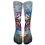 Nuo Beike Tiger Print Ladies Humor Athletic Stocking Tube Stockings Socks