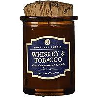 Northern Lights Candles Spirit Jar Candle, 5 oz, Whiskey & Tobacco