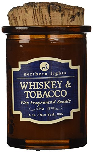 Northern Lights Candles Whiskey and Tobacco Spirit Candle, 5 oz