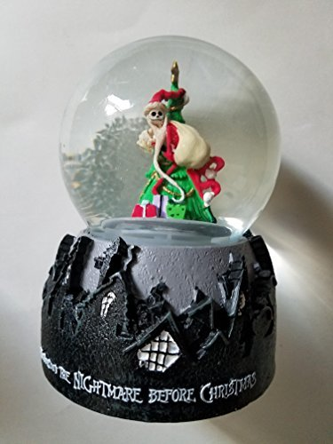 The Nightmare Before Christmas Jack Skellington Christmas Tree Snow Globe by The Nightmare Before Christmas