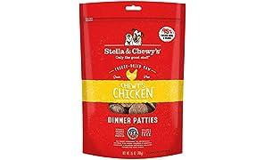 Stella & Chewy's Freeze-Dried Raw Chewy's Chicken Dinner Patties Dog Food, 25 oz. Bag
