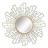 Stonebriar - Espejo Decorativo Redondo para Pared de Metal geométrico Sunburst de 58,42 cm, diseño de Bohemio Moderno, para Sala de Estar, baño, recámara y Entrada