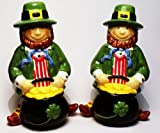 Ganz Twin Leprechauns with Pots O Gold Salt and Pepper Shakers
