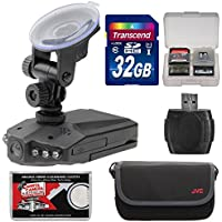 Zuma HD DVR Car Dashboard Video Recorder Camera with 2.5 LCD Screen with 32GB Card + Case + Accessory Kit