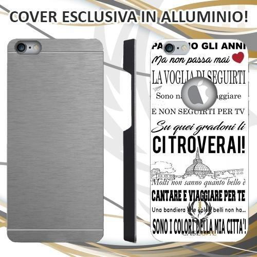CUSTODIA COVER CASE CORO ULTRAS JUVENTUS BIANCO PER IPHONE 6 6S IN ALLUMINIO