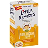 Little Remedies Sore Throat Pops, 10 Count, Calms Fiery Throats, Ages 3+