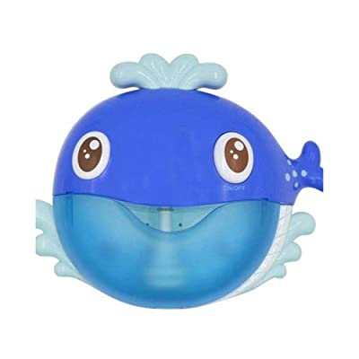 JiaJa Bubble Whale Frog&Crabs Baby Bath Toy Bubble Maker Swimming Bathtub Soap Machine Toys for Children with Music Water Toy,Blue: Toys & Games