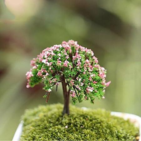 Árbol de plantas en miniatura jardín de hadas adorno maceta decoración 1 pieza Happy Tree: Amazon.es: Hogar