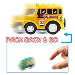 Pull Back Car, 12 Pack Assorted Mini Plastic Vehicle Set, Funcorn Toys Pull Back Truck and Car Toys for Boys Kids Child Party Favors,Die Cast Car Toy Play Set