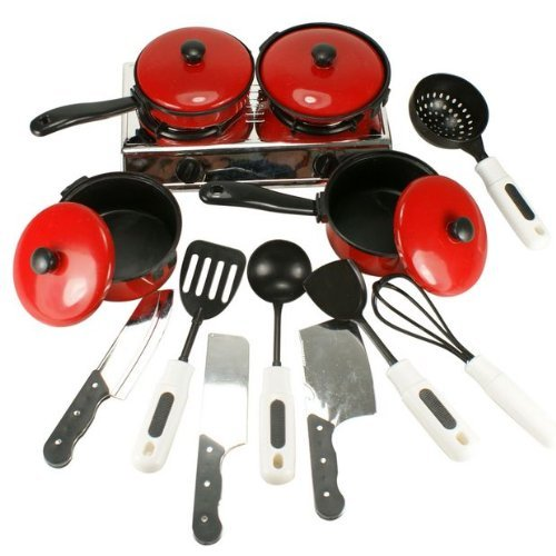 Smartshow Toys Living – Young Chef Cookware for learning Resources Pretend Children cooking tool & Play Cooking Set of 13pcs