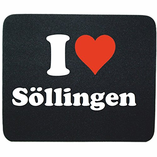 Exklusiv  Mousepad  I Love S Llingen  In Black  A Great Gift Idea For Your Partner  Colleagues And Many More