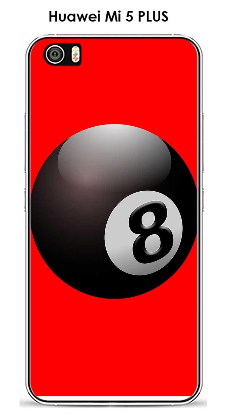 Onozo Carcasa Xiaomi Mi 5 Plus diseño Bola de Billar N ° 8 Puerta ...