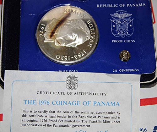 1976 PA Panama Large coin almost 4 ozs 20 balboas Brilliant Uncirculated BU