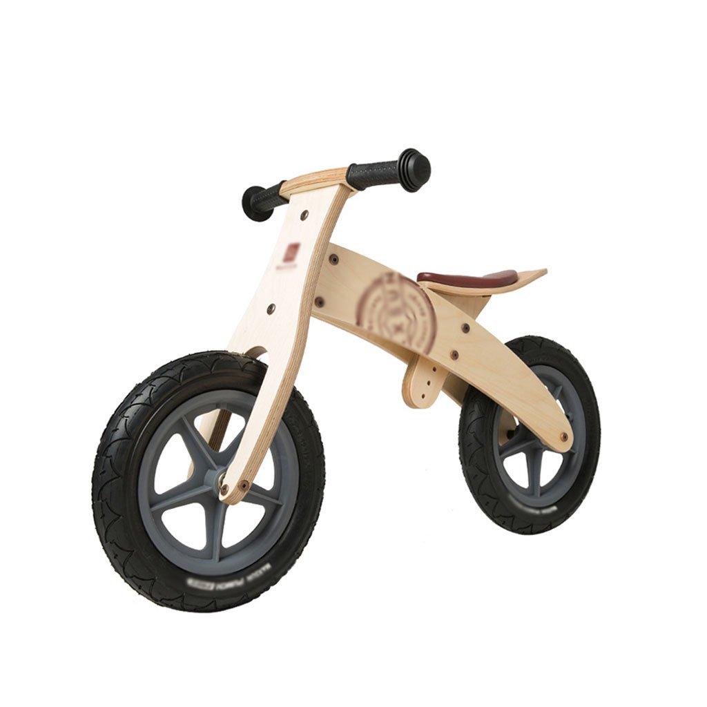 いいえペダル2輪のスクーター子供のスクーターペダルなしバギー子供ダブルホイール自転車スクーター2ラウンドバランス車の木2-6歳 B07F5G7CMKナチュラル