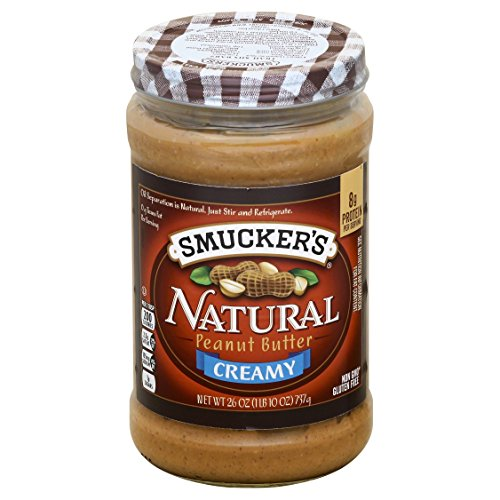 Smucker's Natural Creamy Peanut Butter, 26 Ounce (Pack of 6) ()
