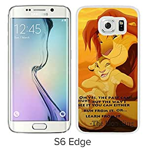 Popular Samsung Galaxy S6 Edge Case ,Unique And Lovely Designed With The Lion King White Samsung Galaxy S6 Edge High Quality Cover