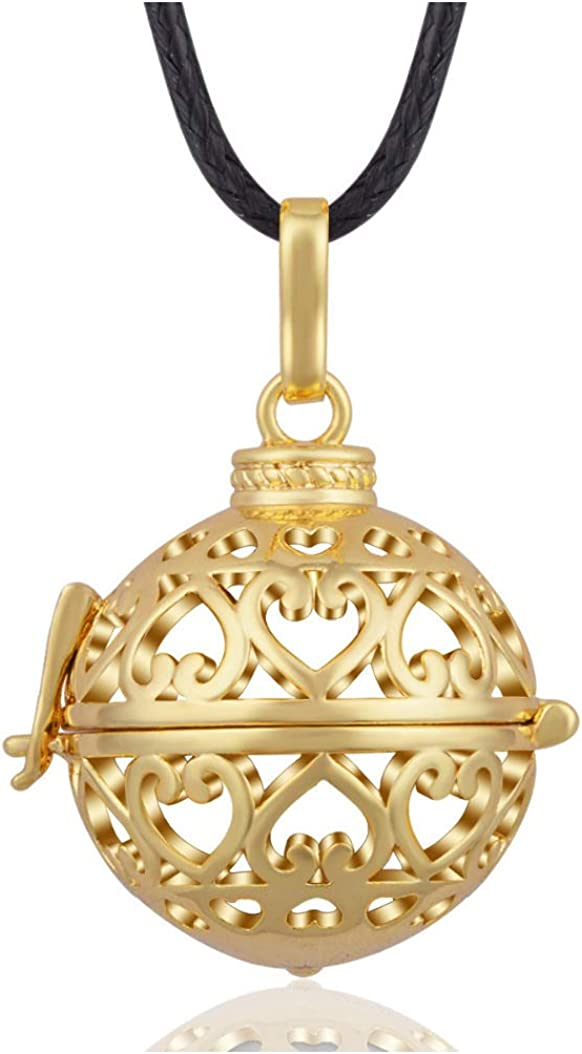Locket Cage Angel Caller Mexican Bola Balls Pendants Nectlace For Women Gift