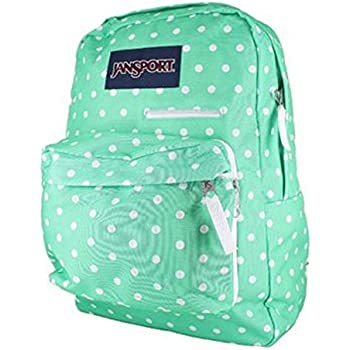 Amazon.com: JanSport Unisex Digibreak Seafoam Green/White Dots ...