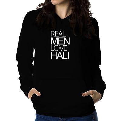 Real men love Hali 女性 フーディー