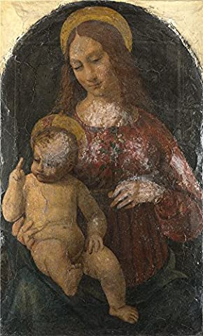 The Perfect Effect Canvas Of Oil Painting 'Italian Milanese The Virgin And Child ' ,size: 16 X 26 Inch / 41 X 67 Cm ,this Replica Art DecorativeCanvas Prints Is Fit For Foyer Gallery Art And Home Decor And (Les Paul Classic Custom Lite)
