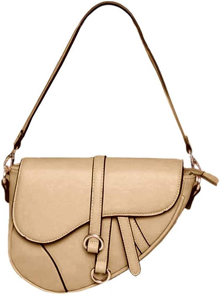 Womens Saddle Clutch Purse Tote Bag Leather Crossbody Handbag Fashion Summer Small Shoulder Bags
