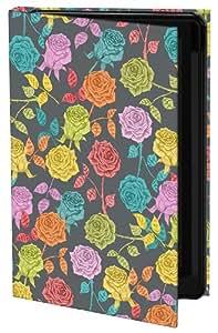 Keka Classic - Funda rígida para Galaxy S4 (fijación a presión), diseño de rosas de Bianca Green, multicolor