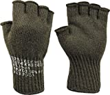 Olive Drab Tactical Fingerless Military Glove Liner Inserts Wool Gloves