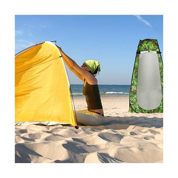 51s7jkViOWL Relaxdays Duschzelt, Pop Up Stehzelt für Camping, Garten & Outdoor, Umkleide- & WC-Zelt, 200 x 120 x 120 cm, Camouflage