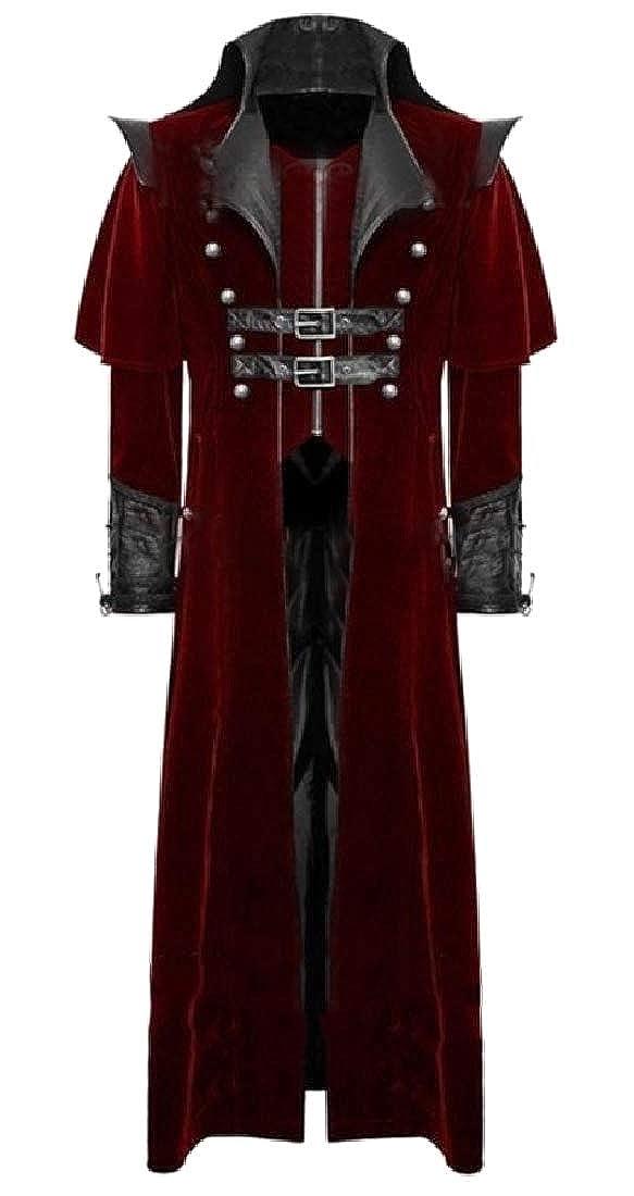 CuteRose Mens Medieval Long Sleeve Windproof Deluxe Cardigan Coat