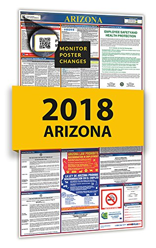 2019 Arizona All In One Spanish Labor Law Posters for Workplace Compliance for sale