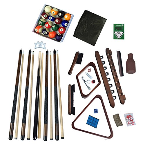 Hathaway Deluxe Billiards Accessory Kit, Walnut Finish (Kit Accessories Pool Table)
