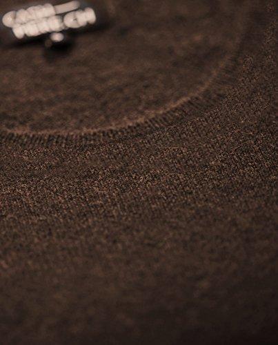 Jersey De Cuello Redondo Para Mujer 100% De Cachemira Moca