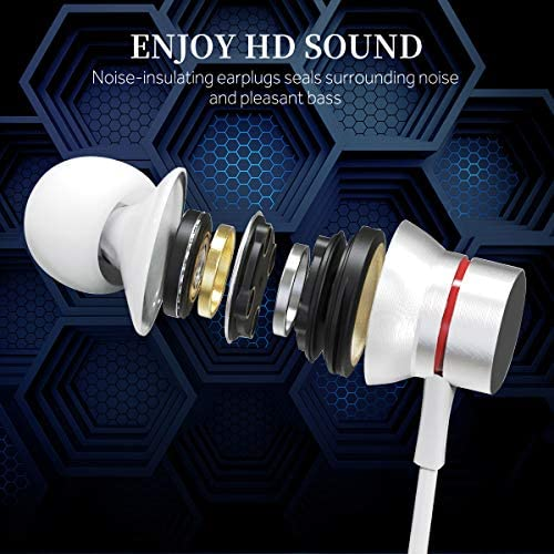 iPhone Headphones for iPhone Earbuds for iPhone,in-Ear Lightning Headphones silbyloyoe, MFi Certified Lightning Earbuds with Mic Controller Compatible iPhone 11 11 Pro, X XS Max XR,7 8 Plus White