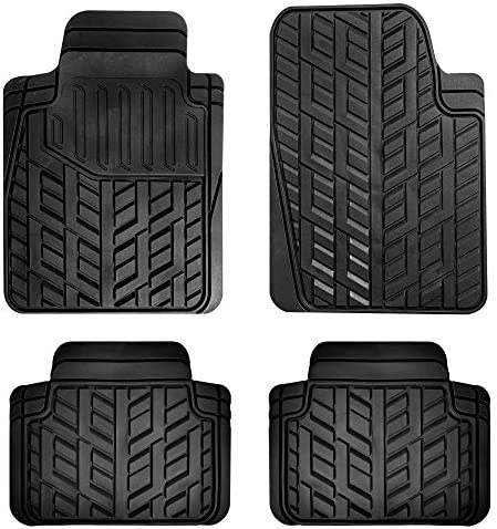 FH Group F13003 Heavy Duty Trimmable Liners Stain-Blocking Car Floor Mats, Solid Black (for Cars, Coupes, and SUVs)