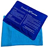 SnowGe Cold Hot Ice Gel Pack Oversize - 1 pack 1 wrap pouch for injuries Pain Relief (Back,Shoulder,Neck,Hip,Knee,Foot, Etc.) | Flexible&Reusable