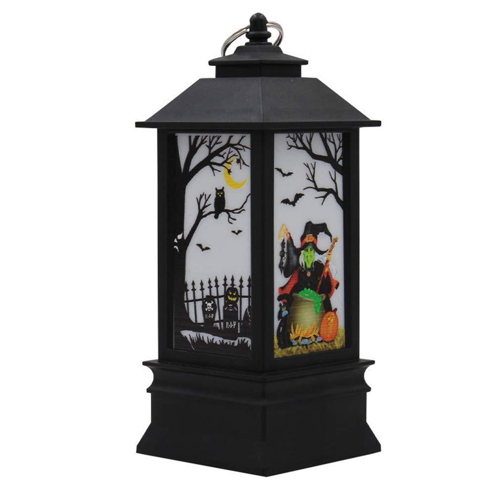 lightclub Halloween Flame Effect LED Lamp Spooky Club Bar Decorative Party Pub Table Light 1#