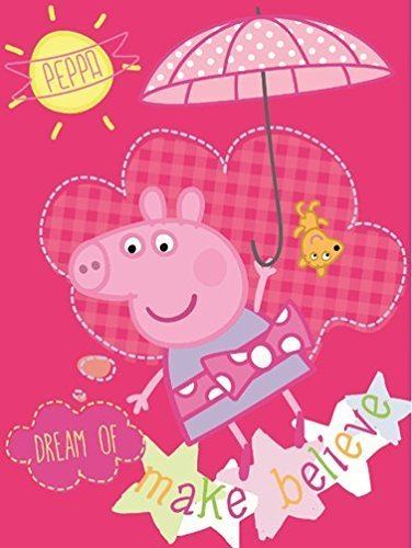 Peppa Pig Super Soft Plush Oversized Baby Throw Blanket 40x50 Inches - Dream of Make Believe