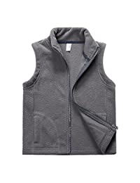 Sooxiwood Little Boys Fleeve Vest Pocket Zipper